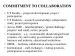 commitment to collaboration