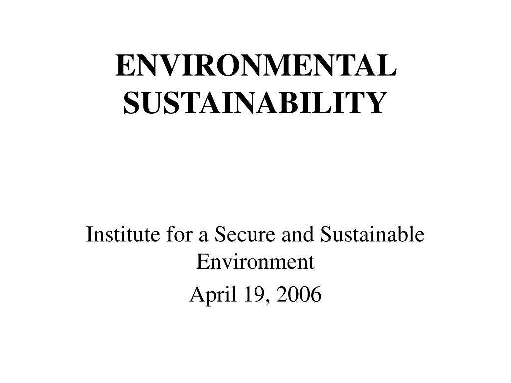 environmental sustainability l.