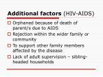 additional factors hiv aids
