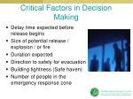 critical factors in decision making