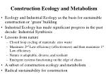 construction ecology and metabolism