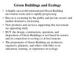 green buildings and ecology
