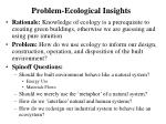 problem ecological insights