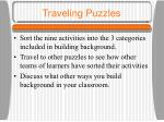 traveling puzzles
