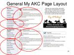 general my akc page layout