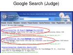 google search judge