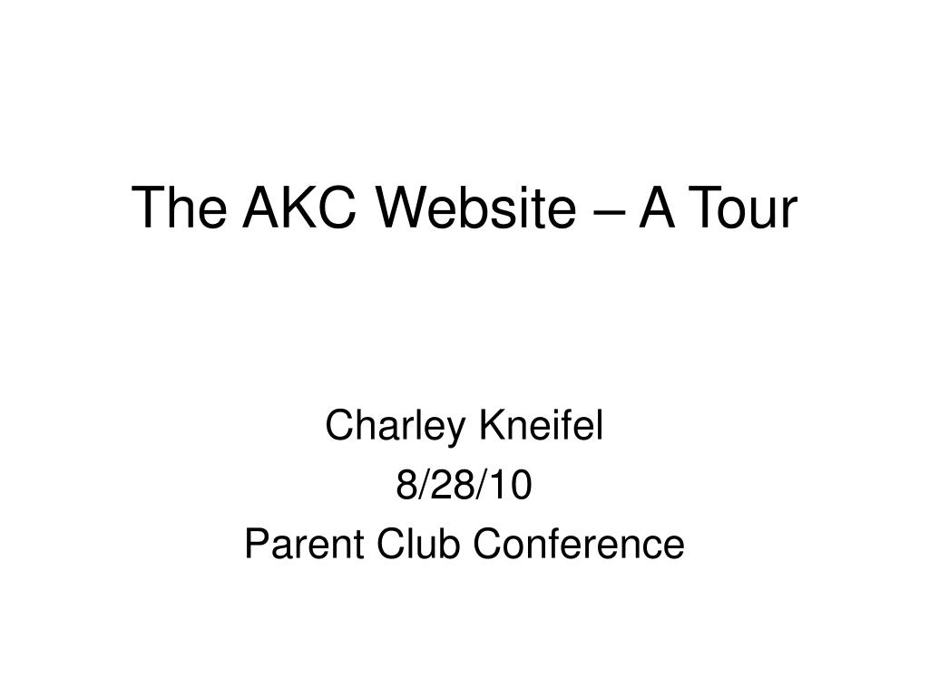 the akc website a tour l.