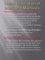 latest generation of intelligent machines