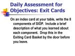 daily assessment for objectives exit cards