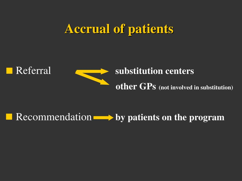Accrual of patients