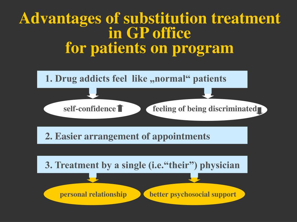 Advantages of substitution treatment in GP office