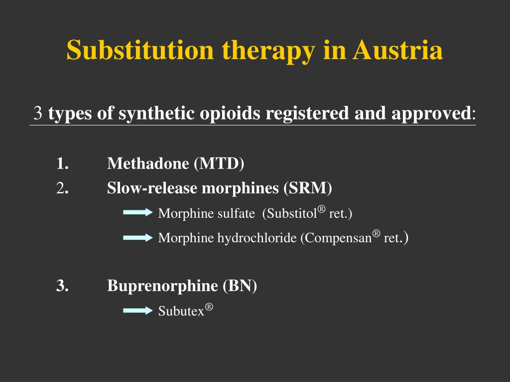 Substitution therapy in Austria