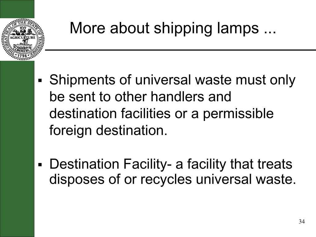 More about shipping lamps ...