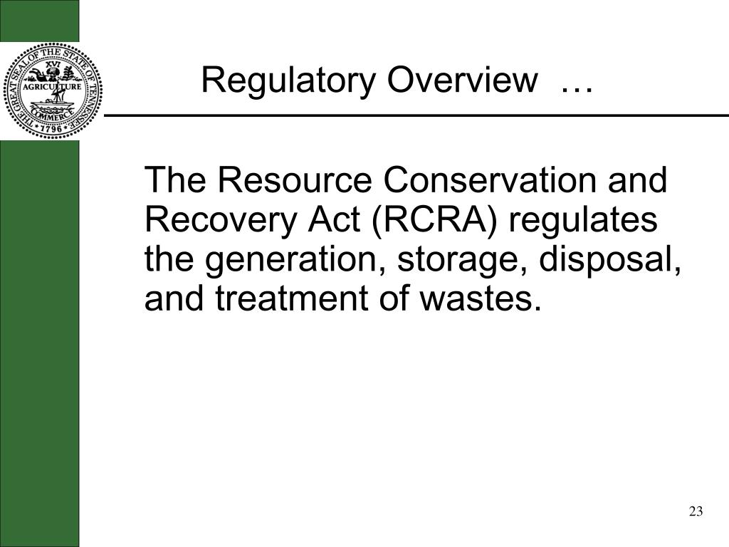 Regulatory Overview  …