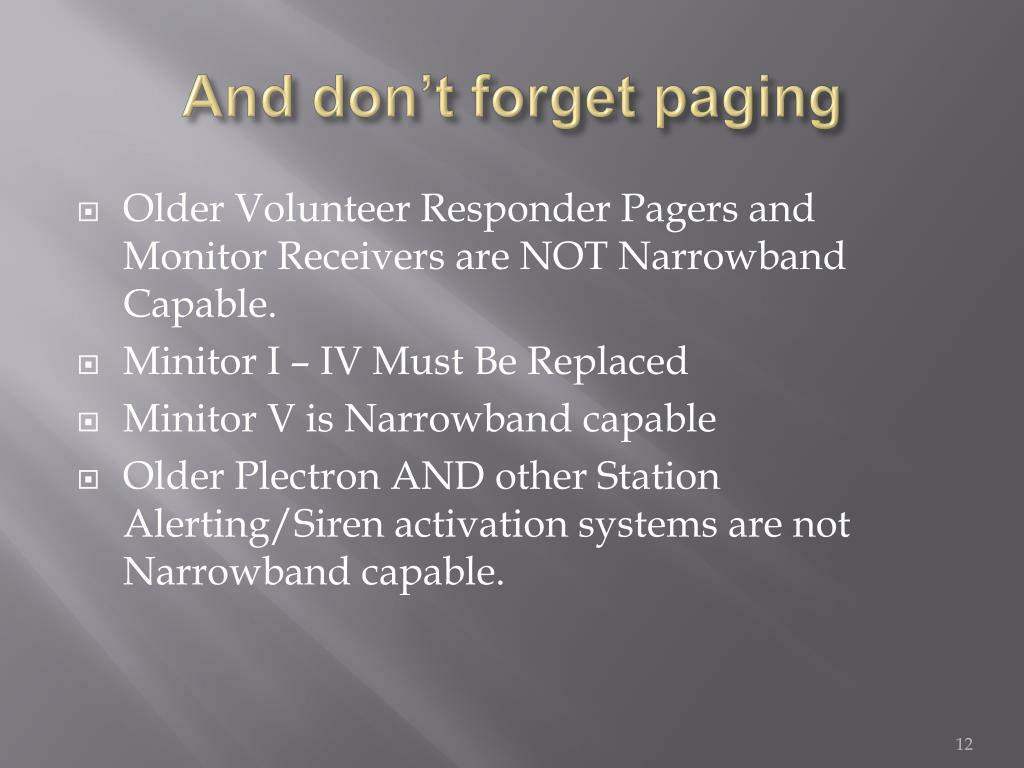 And don't forget paging