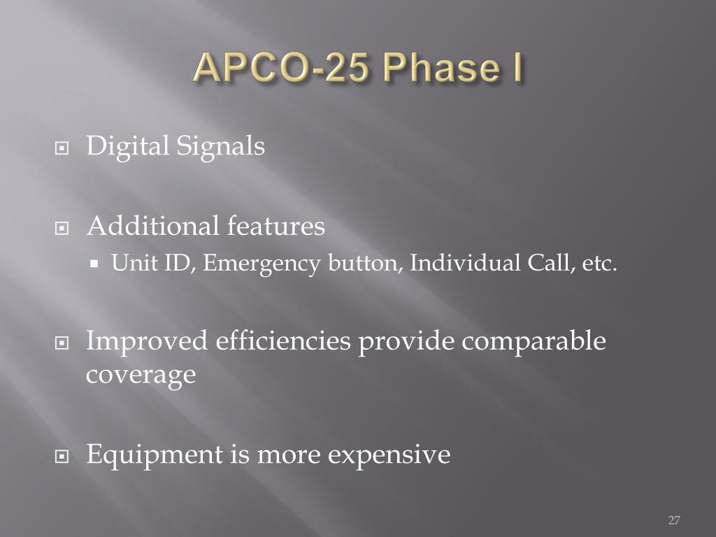 APCO-25 Phase I