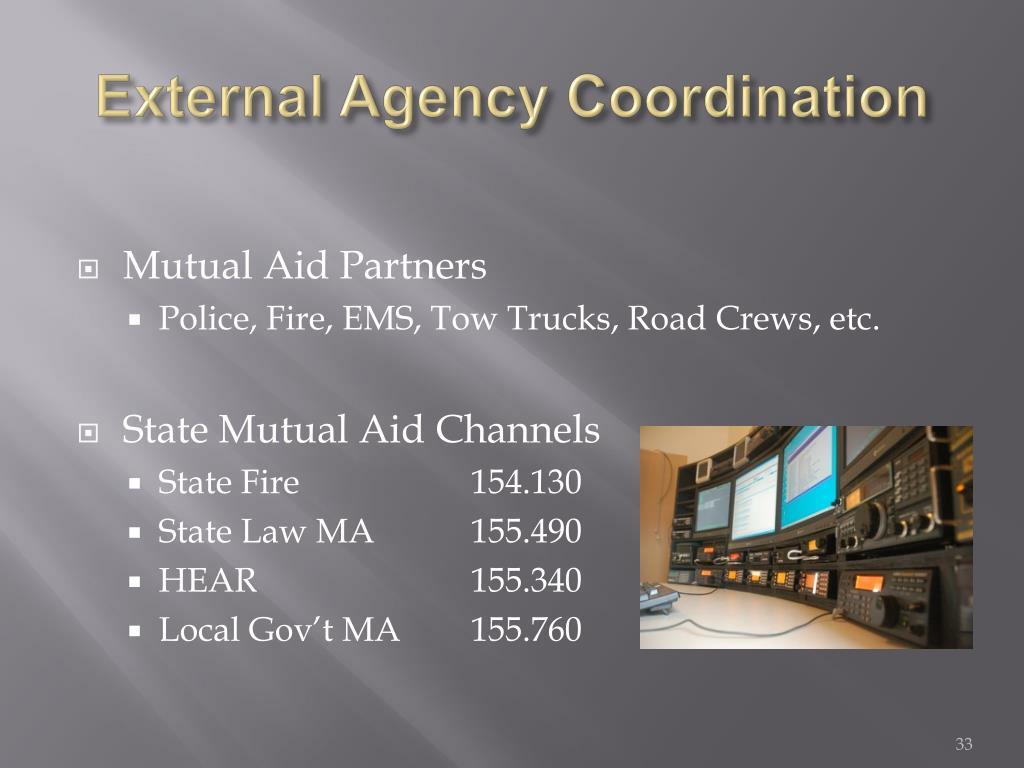 External Agency Coordination