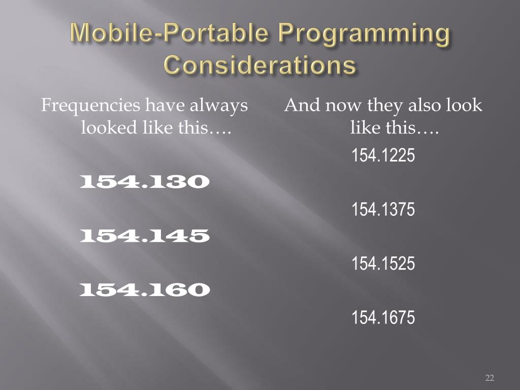 Mobile-Portable Programming Considerations