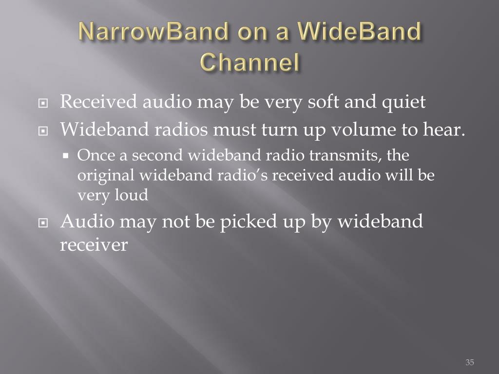NarrowBand on a