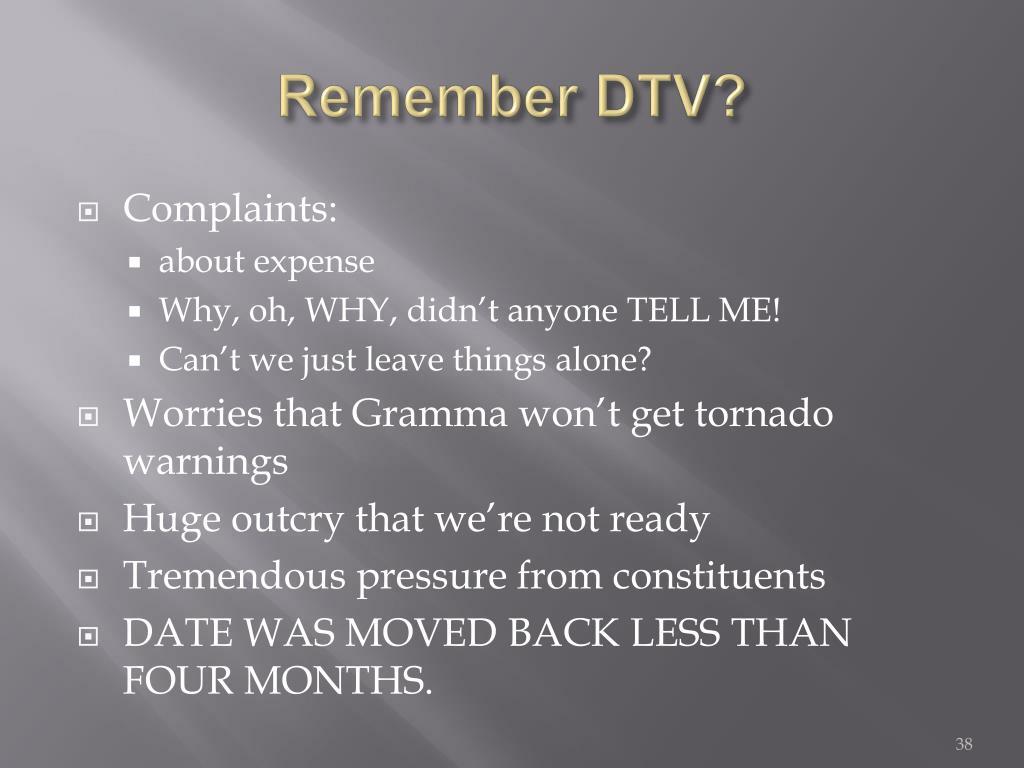 Remember DTV?