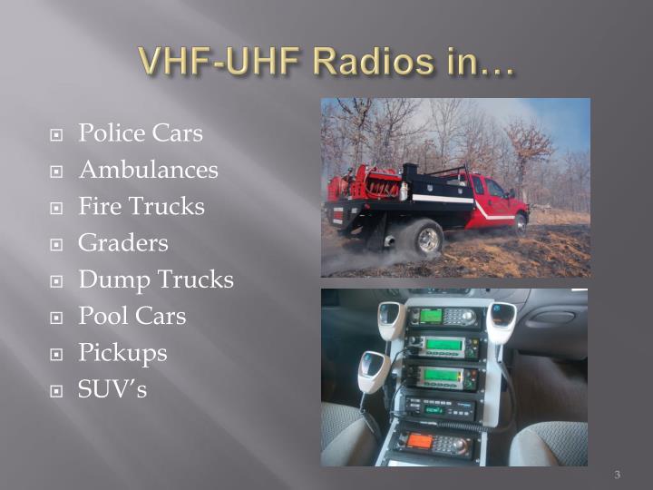 Vhf uhf radios in