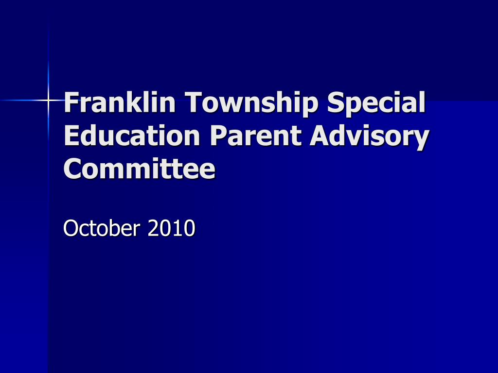 franklin township special education parent advisory committee l.