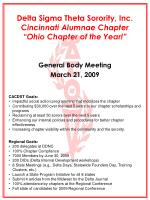 delta sigma theta sorority inc cincinnati alumnae chapter ohio chapter of the year