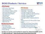 boss products services
