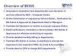overview of boss