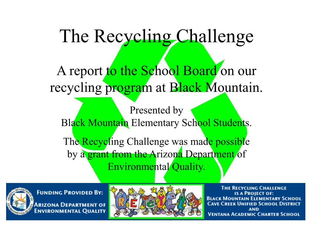 the recycling challenge l.