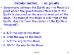 circular motion no gravity