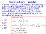 energy and work pendulum74