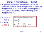 energy in thermal proc carnot25