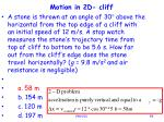 motion in 2d cliff92