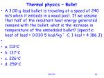 thermal physics bullet