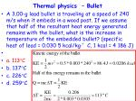 thermal physics bullet27