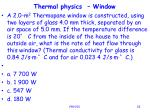 thermal physics window