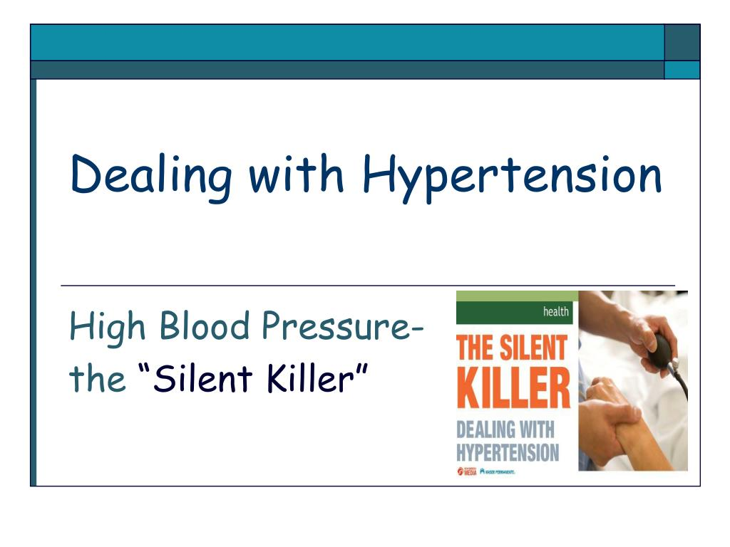 dealing with hypertension l.