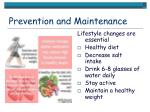prevention and maintenance