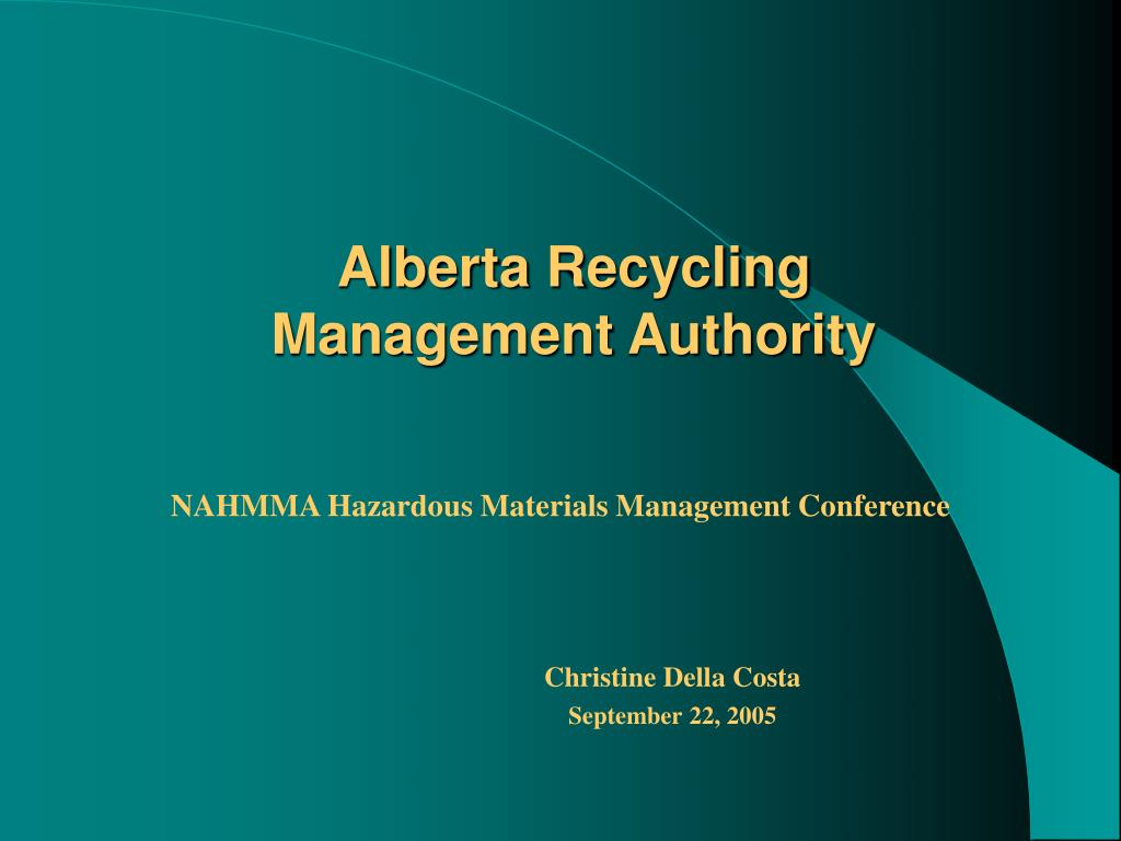 alberta recycling management authority l.