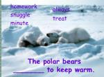the polar bears to keep warm