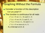 graphing without the formula