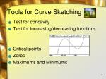 tools for curve sketching