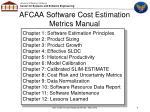 afcaa software cost estimation metrics manual