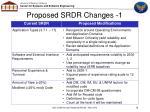 proposed srdr changes 1
