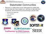stakeholder communities