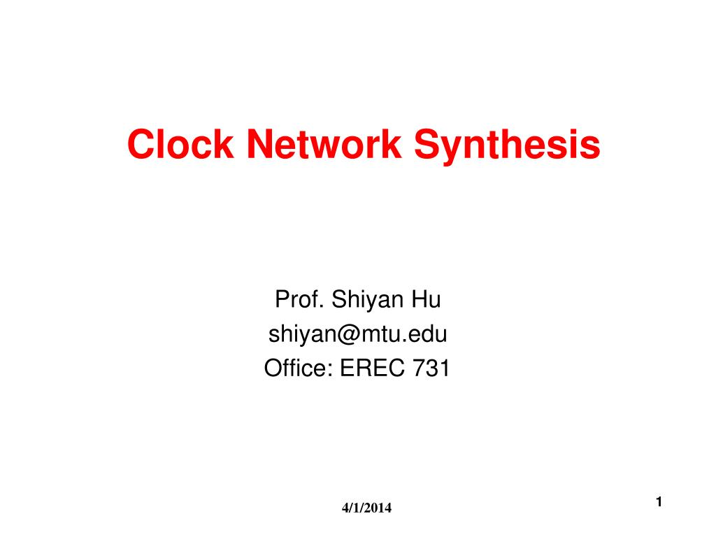 clock network synthesis l.