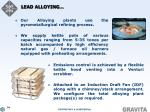 lead alloying