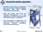 polloution control equipment