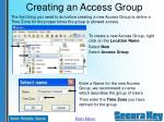 creating an access group